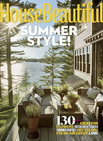 Move The Party Outside, House Beautiful Magazine, May 2017