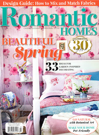 Well Furnished Weaving Wicker, Romantic Homes Magazine, March 2017