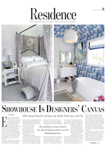 Showhouse Is Designers' Canvas, Residence (The Press News Group), July 25 & 26, 2018