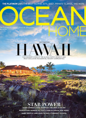 Fireside Beach Party, Ocean Home Magazine, May 2018