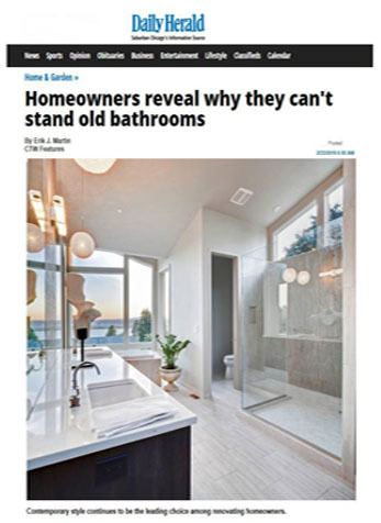 Homeowners reveal why they can't stand old bathrooms, Daily Herald, February 2019