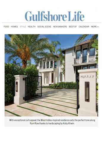 Home of the Month: Stylish (But Not Too Edgy) in Port Royal, Gulfshore Life, March 2019