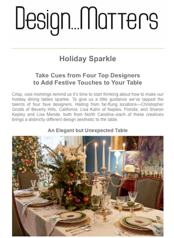 Design...Matters: Holiday Sparkle, The Media Matters, Inc. November 2019