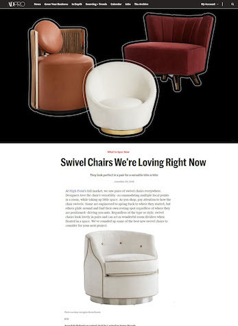 Swivel Chairs We're Loving Right Now, ADPRO, November 29, 2019