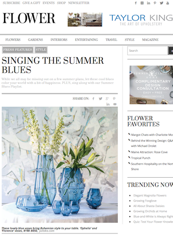 Singing The Summer Blues, Flower Magazine Online, July 2020