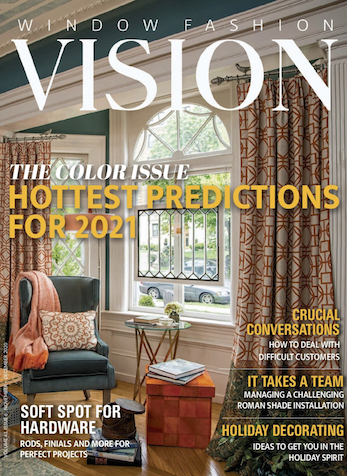 Strong Home Remodeling Market Means a Promising 2021, WINDOW FASHION VISION MAGAZINE, NOV/DEC 2020